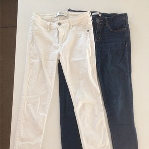 Abercrombie and Fitch Denim and White Denim Jeans.